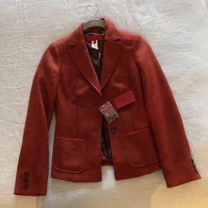 Les Copains orange tweed blazer -new- size 40